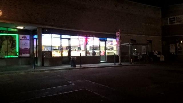 Southgate Kebab Shop at night
