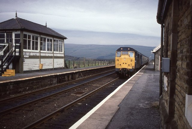 A train pulling into Garsdale Station