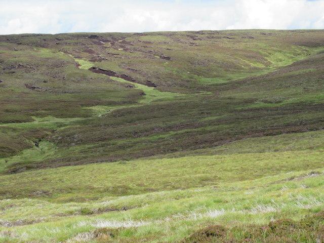 Confluence of Burn of Doune feeders east of Mount Keen