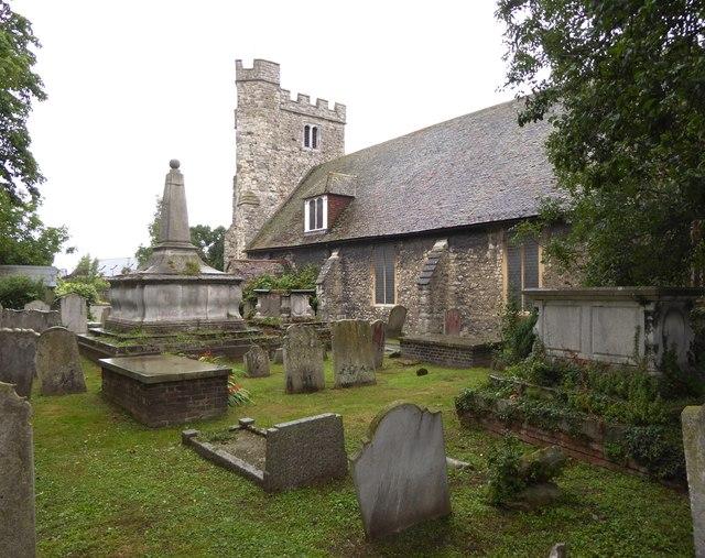 Queenborough: parish church and churchyard