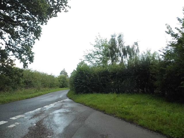 Junction on Hoe Benham Lane