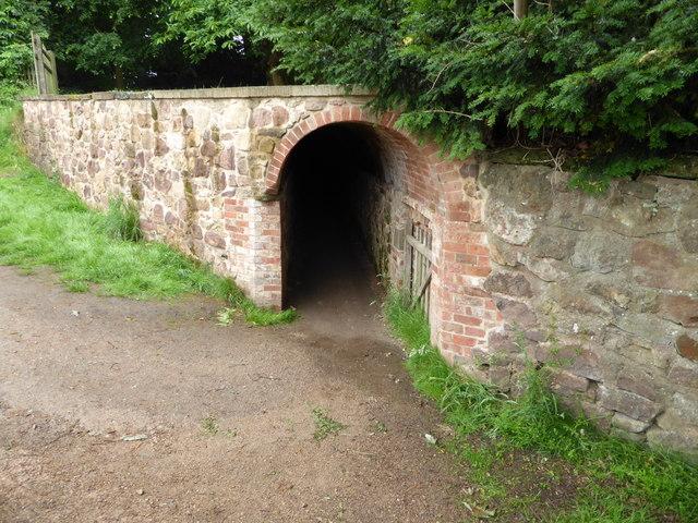 Calke Abbey - the gardeners' tunnel