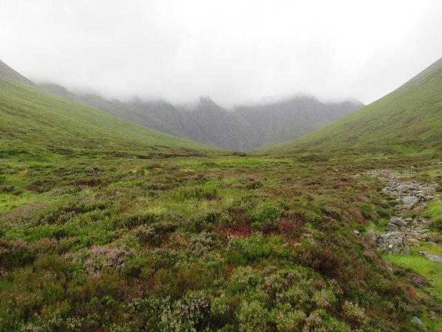 View upstream beside Allt Coire Ardair near Loch Laggan