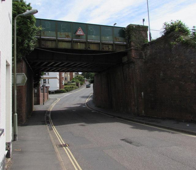 North side of New Street railway bridge, Honiton
