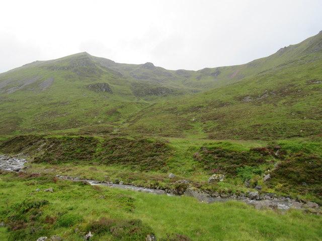 View north-west across Allt Coire Ardair near Loch Laggan