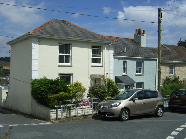 Houses on Basset Street. Falmouth