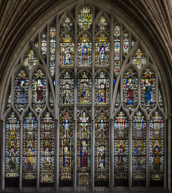 Quire east window, Exeter Cathedral