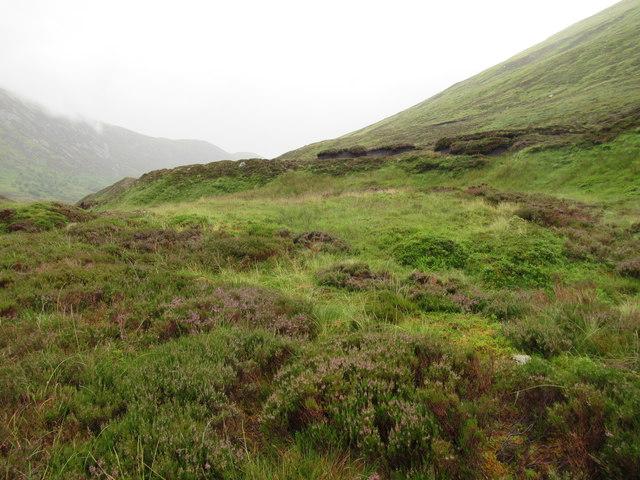 Peat banks south of Allt Coire Ardair near Loch Laggan