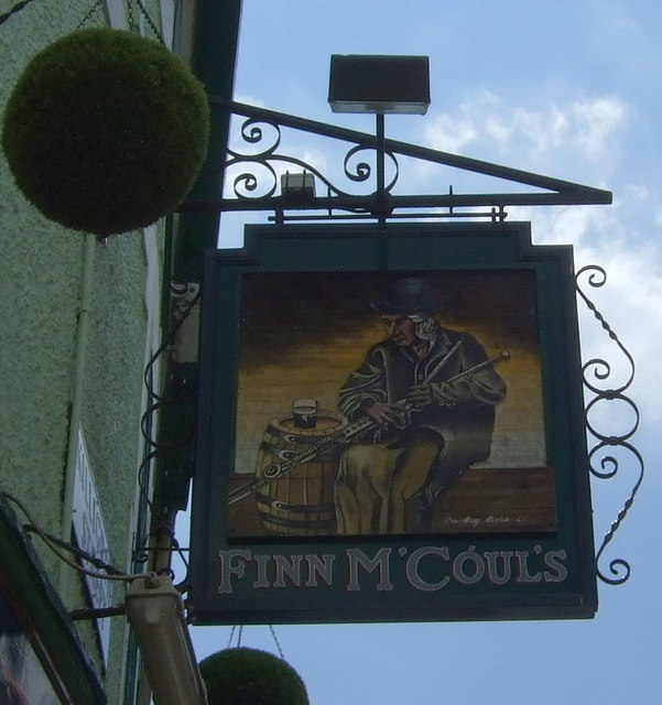 Sign for Finn M'Couls, Falmouth