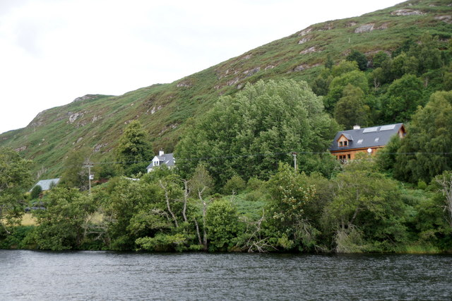 Houses at Craigdhu from the south bank of the River Beauly