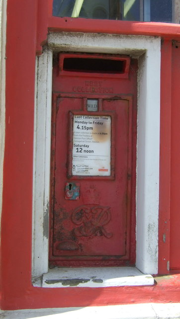 George VI postbox, The Lizard Post Office and Stores