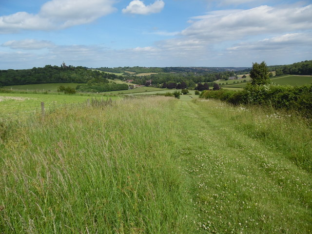 View looking East towards West Wycombe