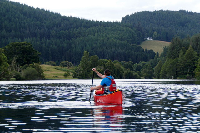 Canoe on the River Beauly at Aigas