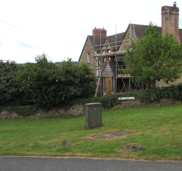 House scaffolding, English Bicknor, Gloucestershire