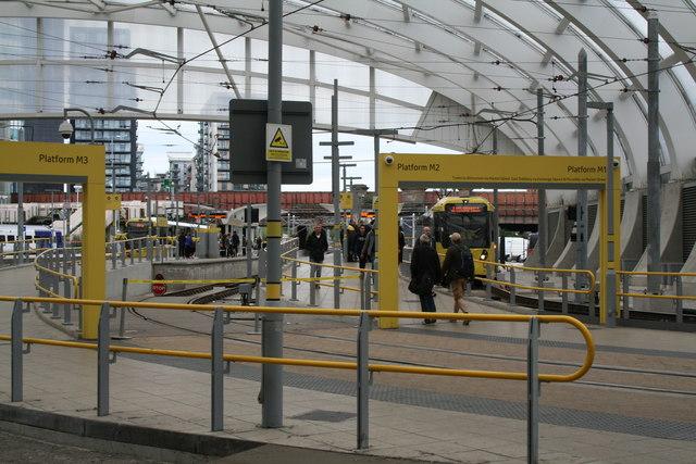 Manchester Victoria: Metrolink platforms