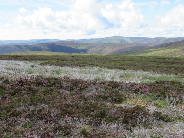 View south-west from catchment of Burn of Doune on Glen Esk