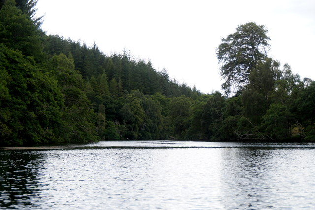 The east channel of the River Beauly passing Eilean Aigas
