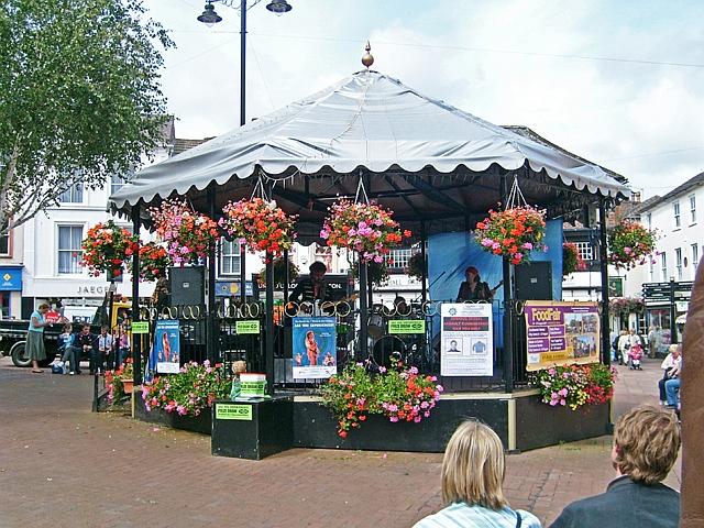 Bandstand, Carlisle city centre, 2007