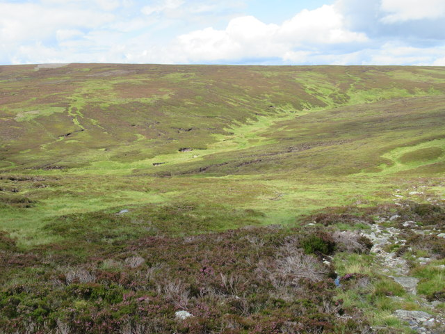 Course of feeder of Burn of Doune in North Esk catchment