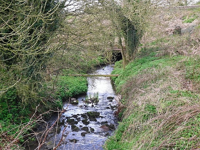 Durranhill Beck, upstream of railway culvert