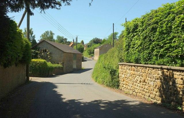 Village street, Stoke Abbott