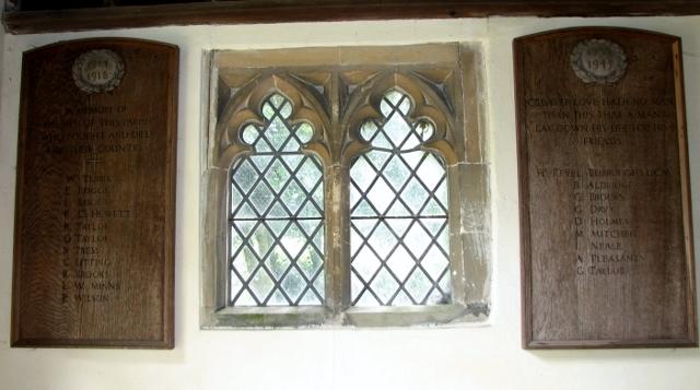 All Saints church, Poringland - war memorial tablets