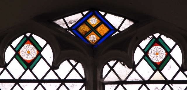 All Saints church, Poringland - medieval glass