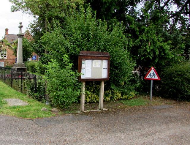Parish Council noticeboard, Ashchurch