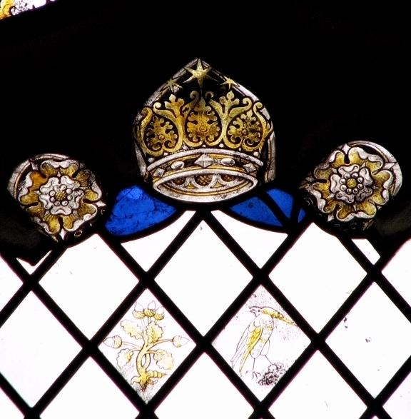 All Saints church, Poringland - east window (detail)