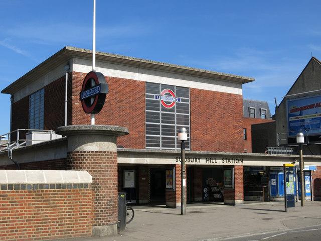 Sudbury Hill tube station - entrance building