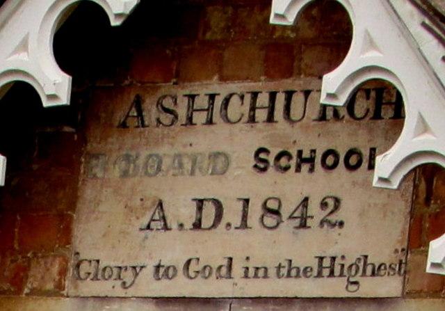 1842 Ashchurch Board School inscription, Ashchurch