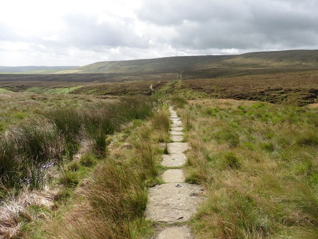 Paved section of the Pennine Way