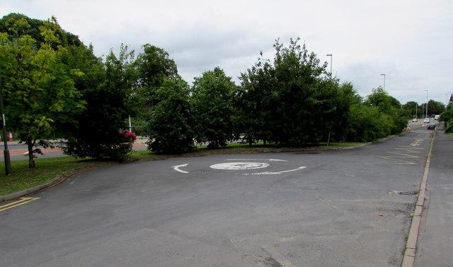 Ashchurch side road mini-roundabout