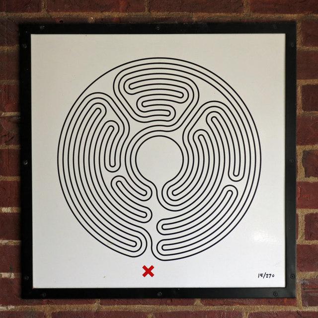Sudbury Hill tube station - Labyrinth 15