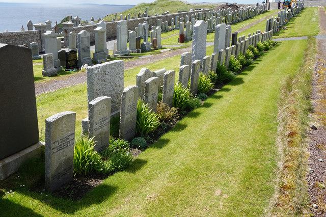 War Graves in Lerwick Cemetery
