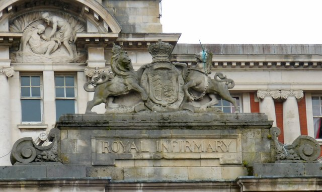 Manchester Royal Infirmary: Name and coat of arms
