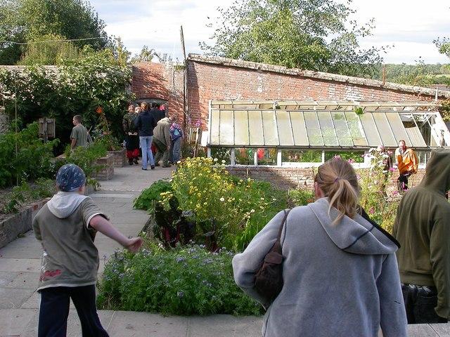 Former walled garden in Oaklands Park