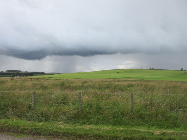 Hill of Menmuir with storm approaching
