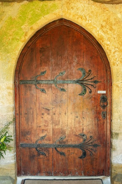 Door to church, Stoke Abbott