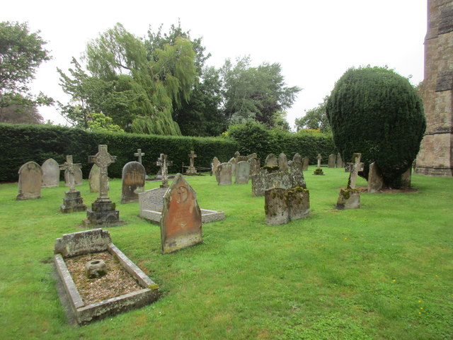 The south west part of the churchyard, Shalstone