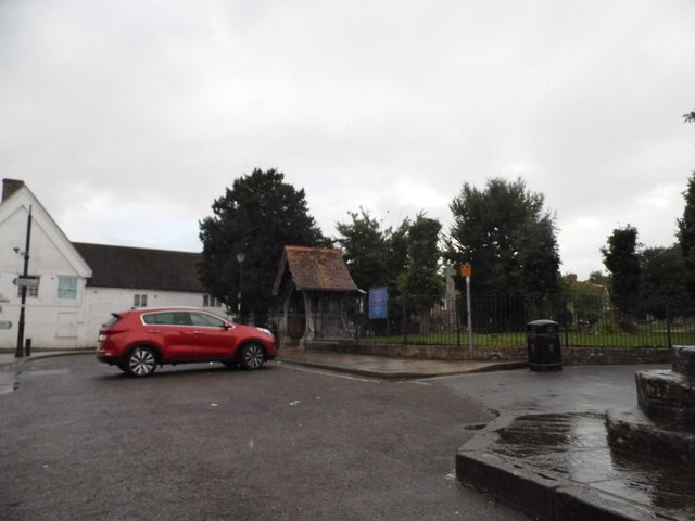 The entrance to Lambourn Church