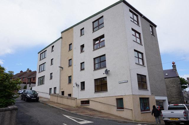 Stout's Court off Commercial Street, Lerwick