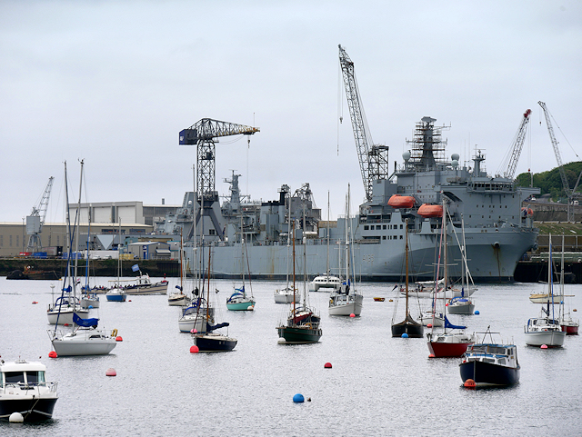 RFA Argus at Falmouth Harbour