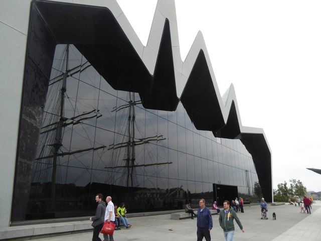 The south facade of the Riverside Museum