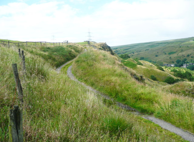 The Pennine Bridleway and Reddyshaw Scout, Walsden