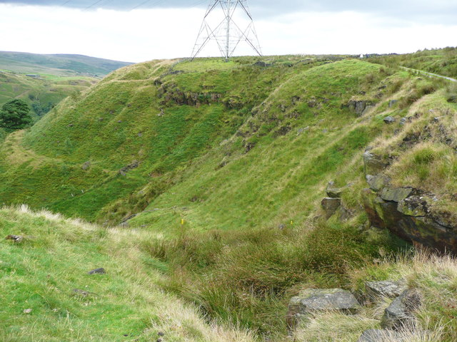 Top of a footpath off Reddyshore Scout Gate, Walsden
