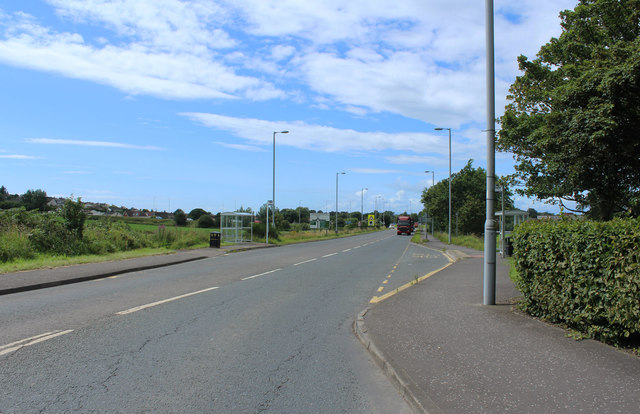 The A70 approaching Ayr