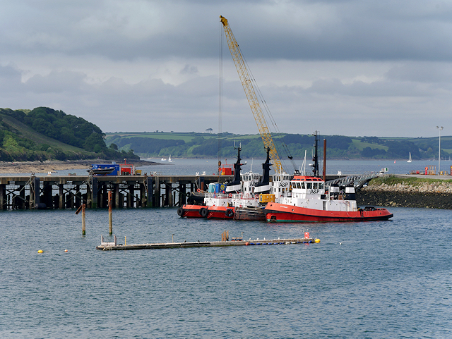 Tugboats at Falmouth Harbour