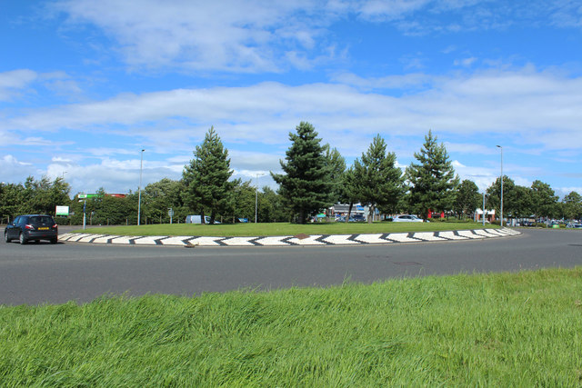Roundabout on the B743, Ayr