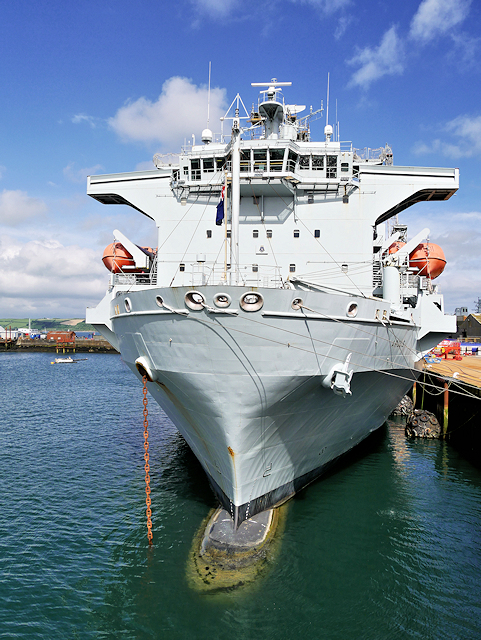Casualty Ship RFA Argus at Falmouth Duchy Wharf